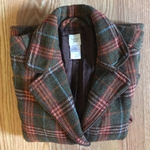 Garnet Hill Jackets & Blazers - Garnet Hill Plaid Wool Blazer, Size 6