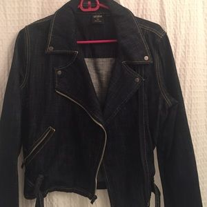 Kate Spade Saturday denim moto jacket