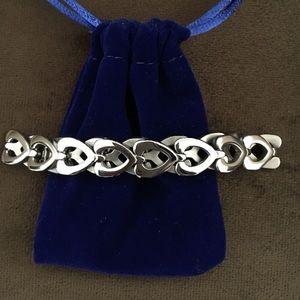 Hearts Bracelet, Stainless Steel