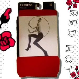 Express Accessories - 🆕Express Red Opaque Tights