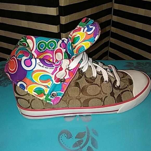 Coach Shoes - Coach Poppy Bonney High Tops Sneakers