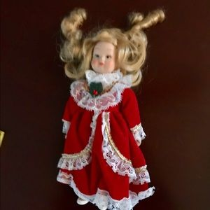 Vintage China Porcelain Collectible Lace  Doll
