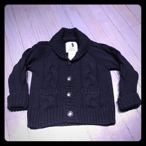 Jacadi Other - Jacadi navy cable knit cardigan sweater EUC