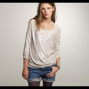 J.Crew sequin lightweight sweater top