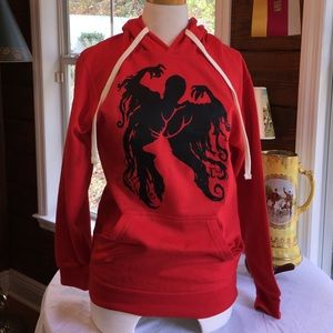 Tops - Harry Potter cool graphic on front red hoodie SM