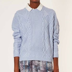 Topshop Sweaters - TOPSHOP Knitted Angora Cable Sweater