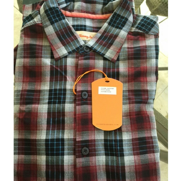 45 off tommy bahama other tommy bahama red plaidton for Tommy bahama long sleeve dress shirts