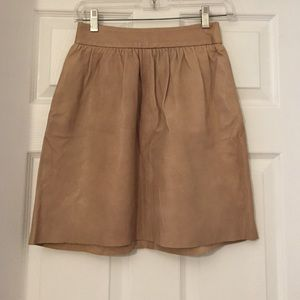 Alice + Olivia tan leather skirt, size 0
