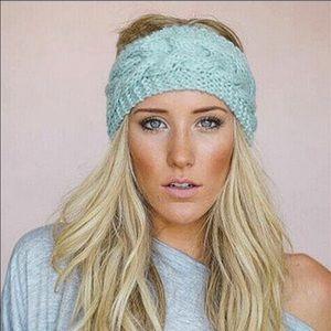 🌺bogo🌺Comfy Teal blue , boho knit head band