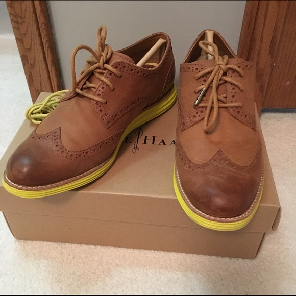Cole Haan Oxford Lunargrand Wing Tip shoes 6