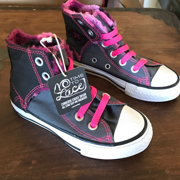 ce0a3fef9248 Converse No Time to Lace (girls)
