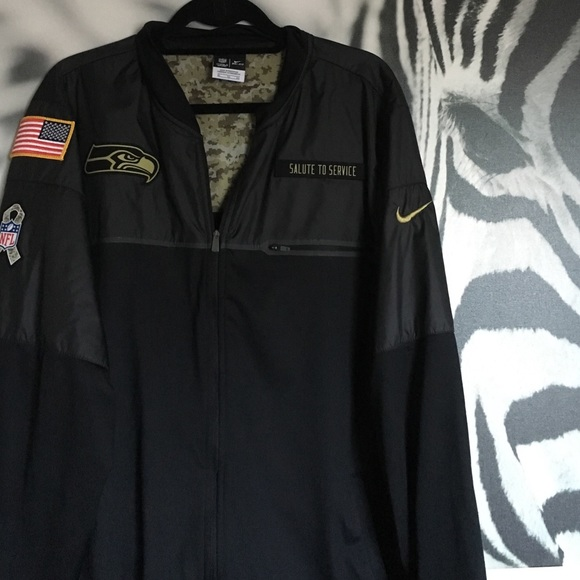 new concept 9a40d 33b5d Seattle Seahawks Salute to Service Nike Jacket