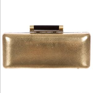 DVF Tonda Clutch Gold with Black Clasp
