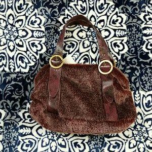 unbranded  Handbags - Cute Faux Fur Double Handle Handbag Purse Hobo