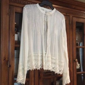 Free People Other - Free People gauze and lace jacket