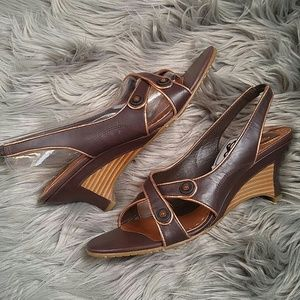 Donald J. Pliner Shoes - Donald J Pliner brown and bronze wedge
