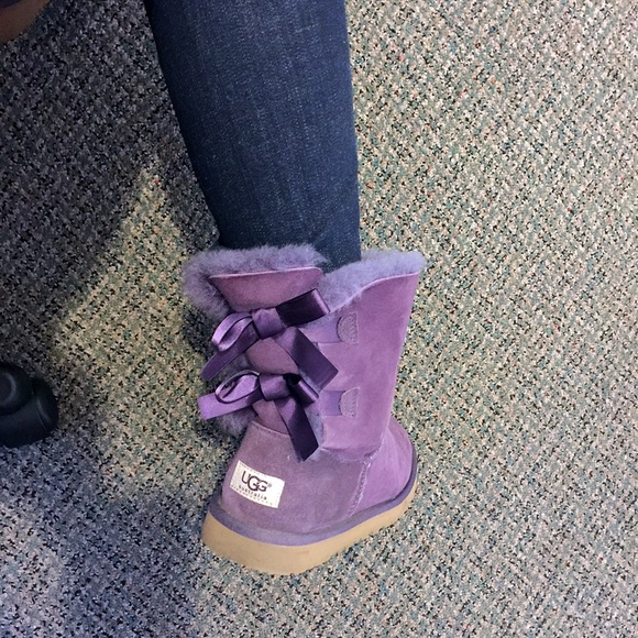 UGG bow tie purple lavender boots