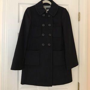 J. Crew Jackets & Blazers - JCrew Navy Blue Winter Coat in Size 4