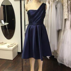 Lela Rose Dresses & Skirts - One shoulder dark navy cocktail dress