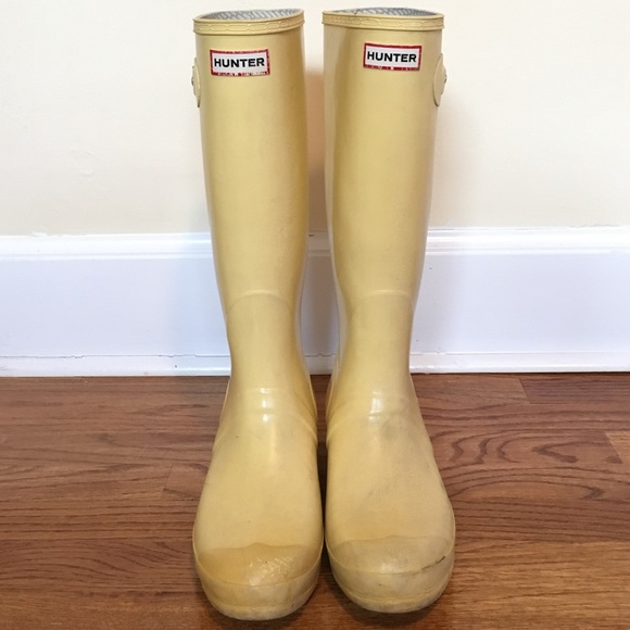 Hunter Shoes - Yellow Hunter Boots e7fbb68ab
