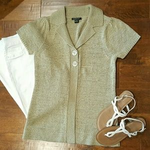 August Silk Sweaters - August Silk Short Sleeve Cardigan