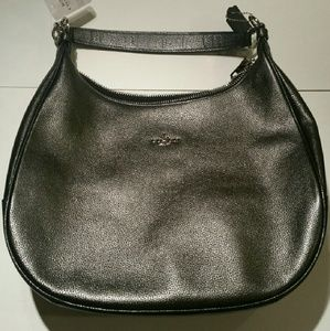 Coach metallic/silver LARGE Hobo and wallet set