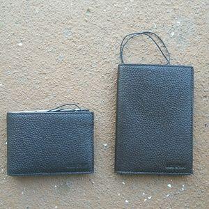 Jack Spade Other - Jack Spade Grain Leather Wallet & Passport Holder