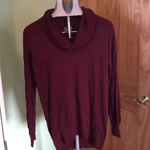 C&C California Tops - C & C California Medium Burgundy Turtleneck