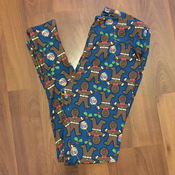 4e97722dcd8e7d LuLaRoe Pants | Gingerbread Man Tc Christmas Leggings New | Poshmark