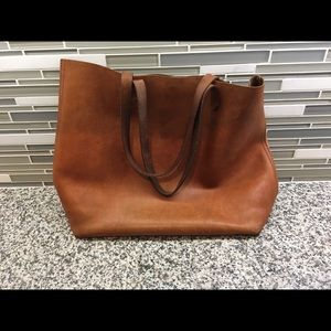Madewell Handbags - Madewell cognac Leather Transport tote