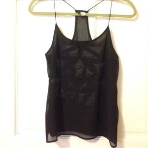 H&M Black Silky Top