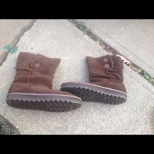 Women's Skechers Brown Leather Fur Lined Boots 10M