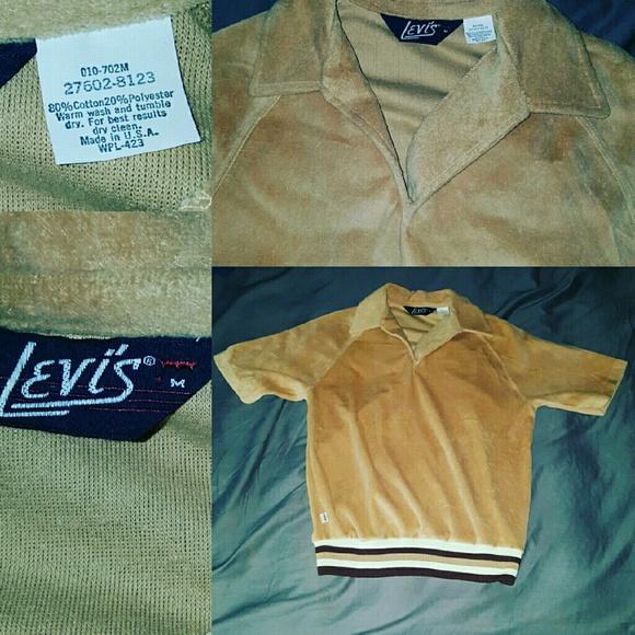 8f9a0ffa Levi's Shirts | Levis Rare Velour Top M Vintage 70s Medium | Poshmark