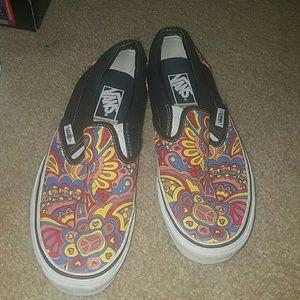 Vans Shoes | Trippy Slip On Vans | Poshmark
