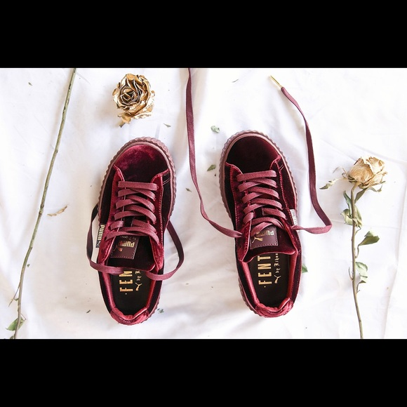 online retailer b2cb1 10084 fenty puma creepers red velvet