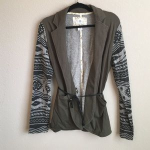 Element Jackets & Blazers - Element Navajo-Print Sleeve Tie-Waist Jacket - L