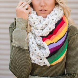 Three Bird Nest Accessories - Last 1❤️Boho Mexican Serape Chunky Scarf