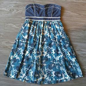 Kimchi Blue 00 Strapless Floral Print Dress