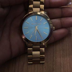 Michael Kors Accessories - Michael Kors Blue face watch