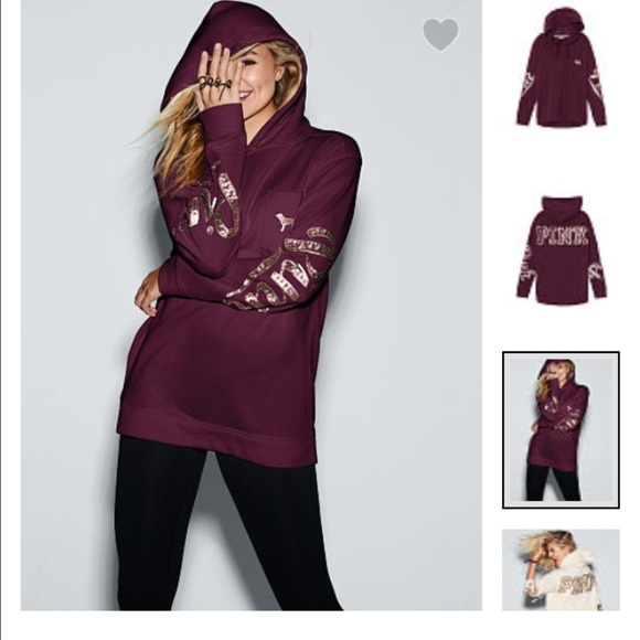 PINK Victoria's Secret - VS PINK Bling Campus Pullover SMALL from ...