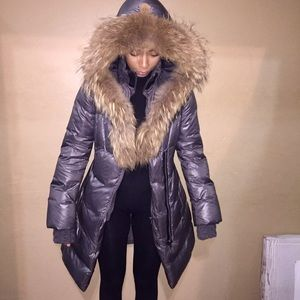 Mackage long puffer jacket with full fur hood
