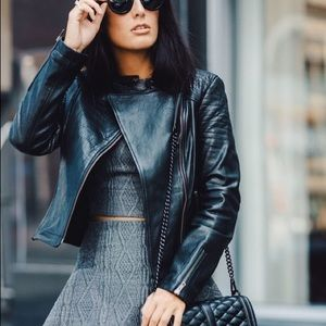 Cupcakes and Cashmere Jackets & Blazers - Leather Moto Jacket by Cupcakes and Cashmere