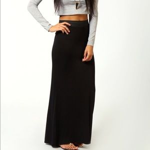 boutique Dresses & Skirts - Black Maxi Skirt w/ Slit