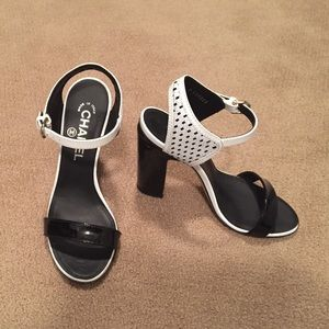 Women's Chanel Block heel sandal
