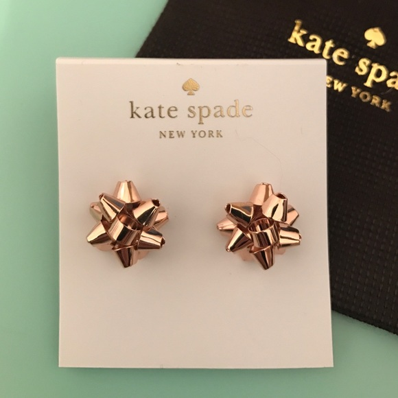 fe352301ecf80 ✨Kate Spade ✨Rose Gold Bourgeois Bow Earrings NWT