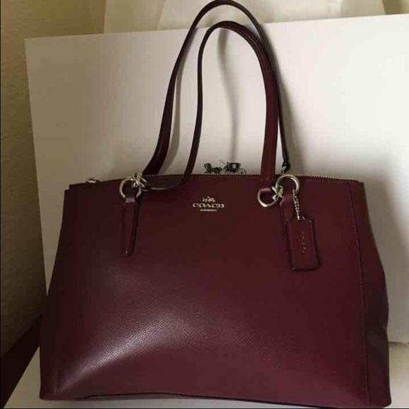 7e4bd666 COACH CHRISTIE CARRYALL IN CROSSGRAIN LEATHER Boutique