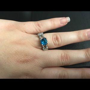 Jewelry - Aquamarine & CZ Gemstone Ring