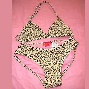 Kate Mack Other - Kate Mack Sequin Leopard Print Bikini 👙