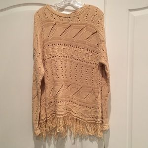 Pierre Cardin Sweaters - Pierre Cardin Bohemian Fringe Sweater