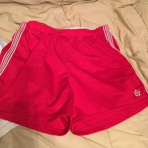 Red and white pair of Limited Too shorts